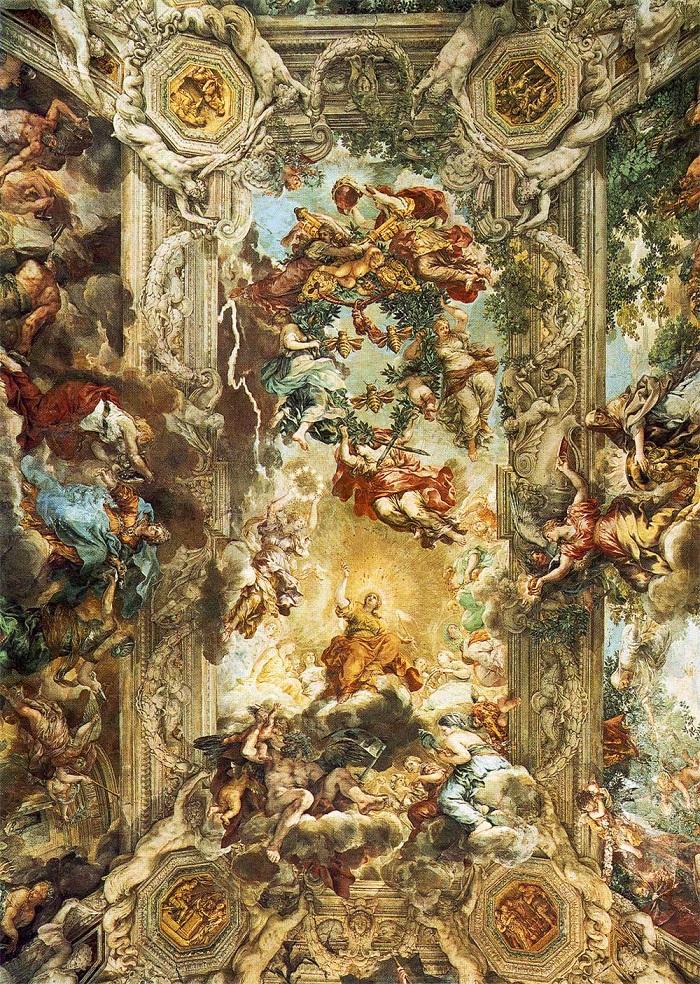ピエトロ・ダ・コルトーナ『教皇ウルバヌス8世治下の≪神の摂理≫の勝利』。700